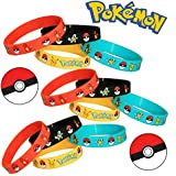 Pokemon Party Supplies Silicone Wristband Bracelet