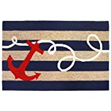 Liora Manne Whimsy Ship Ahoy Indoor/Outdoor Rug, Indoor/Outdoor, 7'6' x 9'6', Navy