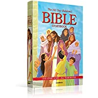 365 Day Bible Story Book for Children - Bible Stories for Children - Creation - Adam - Eve - Noah - Abraham - Jonah - Moses - Debroah - Samson - Ruth - Mary - Christmas Story - Padded Hard Cover