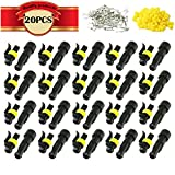 KINYOOO Car Wire Connector | Waterproof Electrical Terminal | Plug for Auto Motorcycle Scooter Truck Marine Plug Socket Kit | 1 Pin × 20 Kit