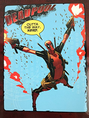 """Price comparison product image Marvel Deadpool """"Outta The Way, Nerd."""" 46"""" x 60"""" Plush Throw Blanket"""