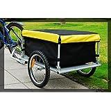 Aosom Elite Bike Cargo / Luggage Trailer - Yellow / Black