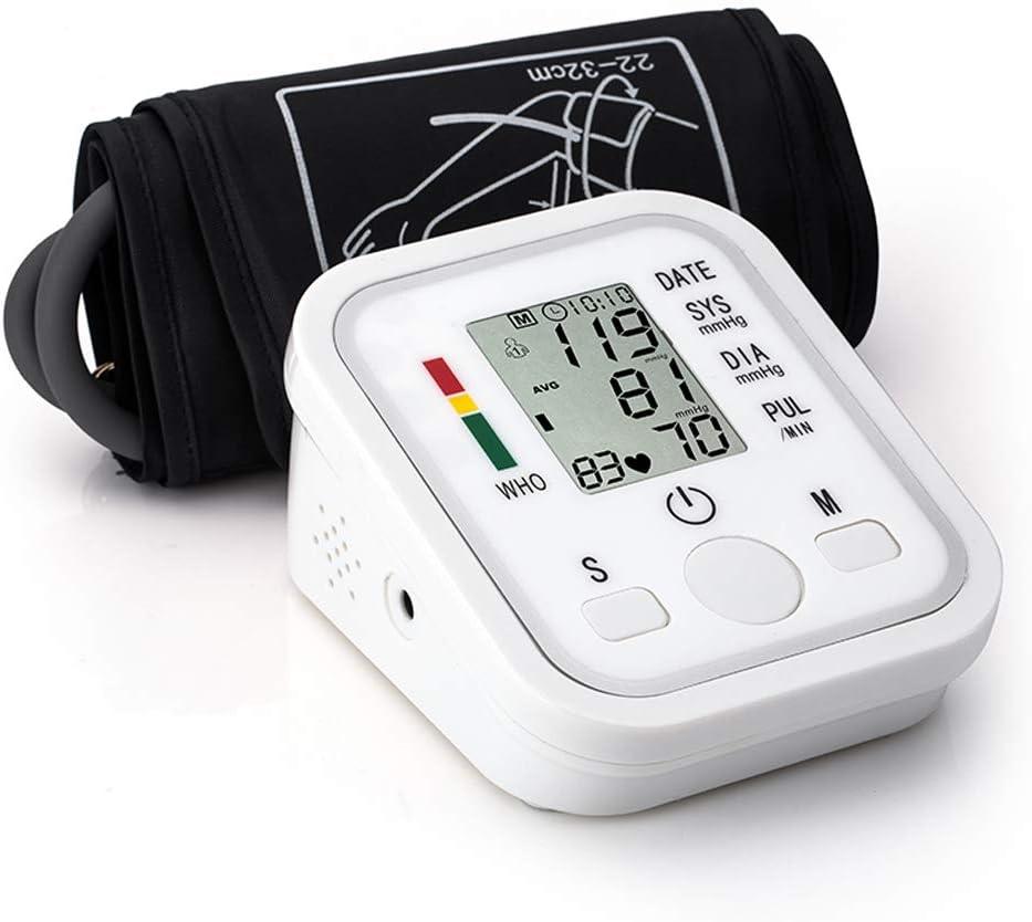 Esfigmomanómetro Portátil Totalmente Automático Tipo de Banda para Brazo Digital Medidor de Presión Arterial Electrónico Mini Tamaño Ligero Portátil