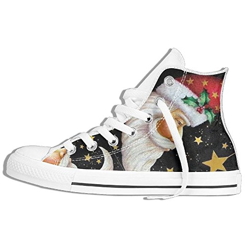 [Santa Claus For Men And Women Hi-tops Casual Sneakers Shoes Flat Athletic Nursing Simple Best Gift] (Female Jigsaw Costume)