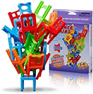 Clothful Family Board Game Children Educational Toy Balance Stacking Chairs Office Game