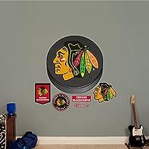 Fathead Chicago Blackhawks Puck Logo - NHL -  Real Big Wall Decal
