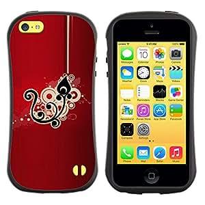 Suave TPU GEL Carcasa Funda Silicona Blando Estuche Caso de protección (para) Apple Iphone 5C / CECELL Phone case / / Black Drawing Pattern Floral /