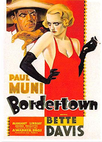 Bette Davis trading card Bordertown Paul Muni Classic Movie Posters 2007#8 from Autograph Warehouse