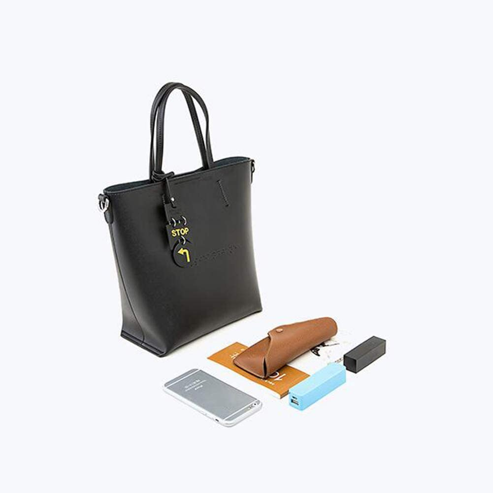 Qzny Womens Handbag Large Capacity Retro Letter Handcuffs Shoulder Tote Bag Messenger Ladies Cross-Body Bags Purse Color : A, Size : 282512cm