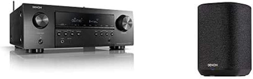 Denon AVR-S650H 5.2 Channel Stereo Receiver + 1 Denon Home 150 Wireless Speaker (Black) | Bluetooth, USB Port | Music Streaming with Alexa + HEOS