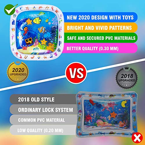 """Premium Tummy Time Water Playmat 