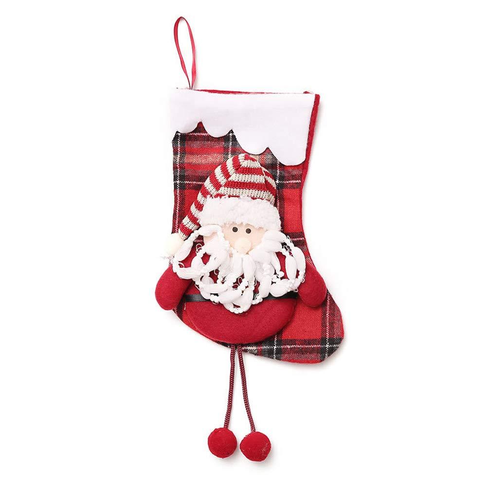 4 St/ück Christmas Stocking Weihnachten Strumpf Beutel Weihnachtssocke Nikolausstiefel Weihnachtsdeko zum Bef/üllen und Aufh/ängen INTVN Weihnachtsstrumpf