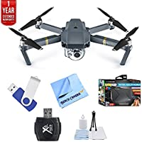 DJI Mavic Pro 4K Camera Quadcopter Drone Fly More Combo Pack + Ultimate Bundle with 16gb jump drive deluxe cleaning kit high speed card reader VR goggles and 1 year warranty extension