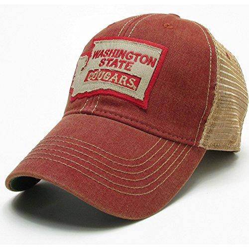 Washington State Cougars Legacy Trucker Hat - Crimson - State Logo