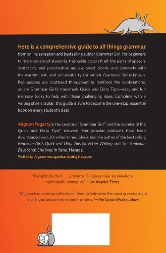 grammar girl presents the ultimate writing guide for students Grammar girl presents the ultimate writing guide for students (quick & dirty tips) by mignon fogarty, erwin haya click here for the lowest price paperback, 9780805089448, 0805089446.