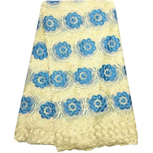 Laliva Royal Blue Nigerian Lace Fabrics African Swiss Voile Lace Swiss Voile Lace in Switzerland for Wedding 973 - (Color: As Picture) by Laliva (Image #6)