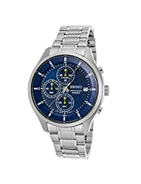 Seiko Chronograph Blue Dial Mens Watch SKS537