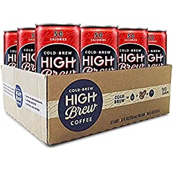 High Brew Coffee Double Espresso 8 Fl Oz (12 Count) Grab & Go Pre-Made Cold Brew Fair Trade Coffee Low-Acidity Caffeine Drink