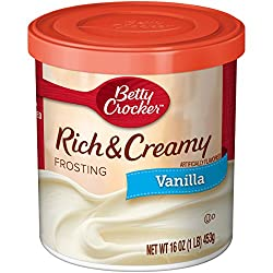 Betty Crocker Frosting, Rich & Creamy Gluten Free Frosting, Vanilla, 16 Oz Canister