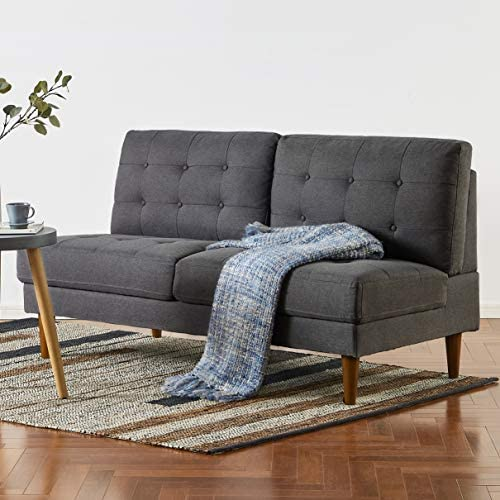 Mellow JULES Modern Armless Loveseat/Sofa/Couch