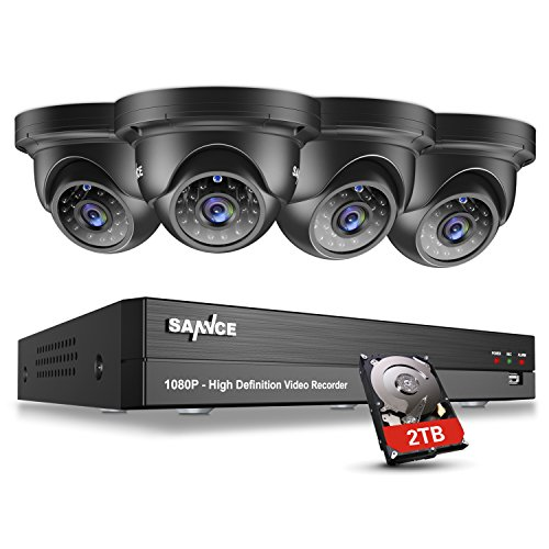 SANNCE 8CH 1080P 5-in-1 CCTV DVR and 2TB Surveillance Hard Drive Included+...
