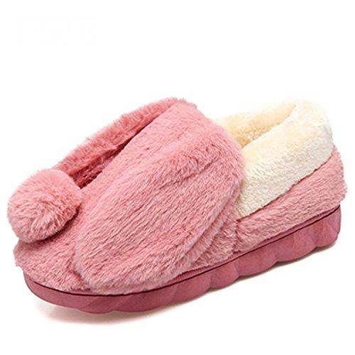 D Chaud DWW Chaussons Pur Hiver Anti Coton Pantoufles en U8UHw1zTq