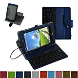 """Acer Iconia One 8 B1-810 / Tab 8 A1-850 USB Keyboard Case,Mama Mouth Rotary Stand PU Leather Cover With Removable Micro USB Keyboard for 8"""" Acer Iconia One 8 B1-810 / A1-850-13FQ Tablet,Dark Blue"""