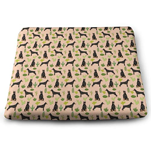 (STWINW Indoor/Outdoor Comfortable Memory Foam Seat Cushion Miniature Doberman Pinscher Cactus Chair Pad Wheelchair Cushion for Office,Vehicles,Home,Truck Driver,Kitchen Chairs,Car)