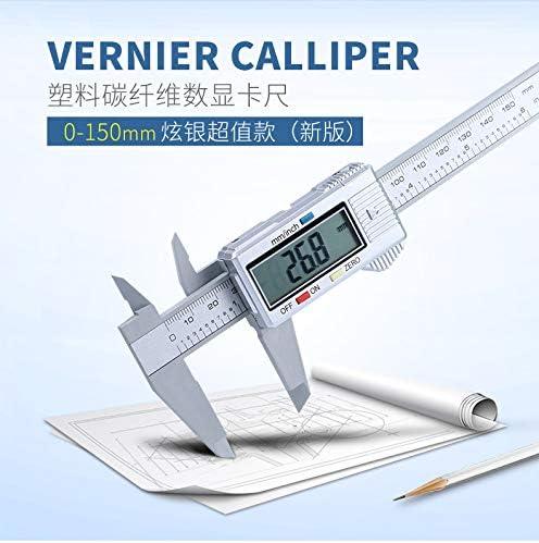 in fibra di carbonio Calibro digitale 150 mm schermo LCD Micrometro con calibro color1 DDLBiZ Digital