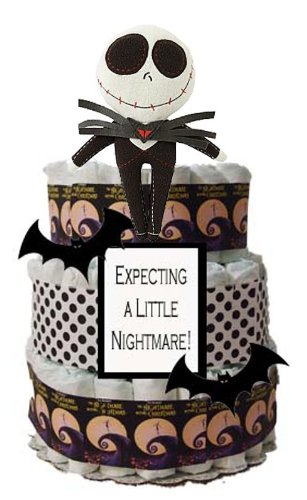 Expecting a Little Nightmare Diaper Cake