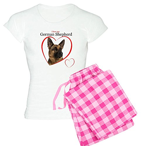 CafePress German Shepherd Women's Light Pajamas Womens Novelty Cotton Pajama Set, Comfortable PJ Sleepwear