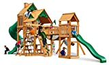 Gorillaplay Sets Home Backyard Playground Treasure Trove Swing Set with Amber Posts