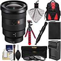 Sony Alpha E-Mount FE 16-35mm f/2.8 GM Zoom Lens with Backpack + Battery & Charger + Flex Tripod + 3 UV/CPL/ND8 Filters + Kit
