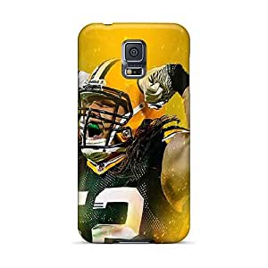 Durable Hard Cell-phone Cases For Samsung Galaxy S5 (jlT1552Yiog) Allow Personal Design Colorful Green Bay Packers Series