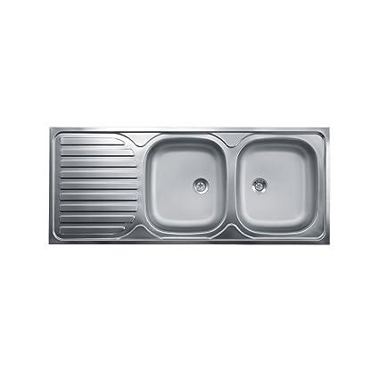 Lavello Cucina Due Vasche Con Gocciolatoio A Sinistra Acciaio ...