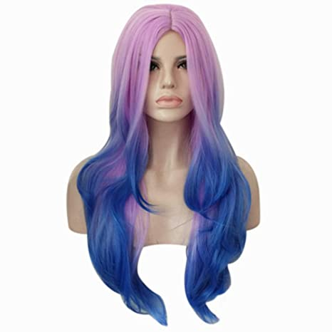 FOCAILAI Pelucas de pelo de estilo moderno para mujeres y mujeres niñas pelucas de cosplay aptas
