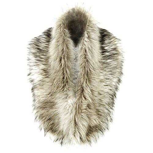 Shawl Collar Shrug (FUNOC Women Winter Warm Shrug Faux Fur Fluffy Collar Wrap Scarf Neck)