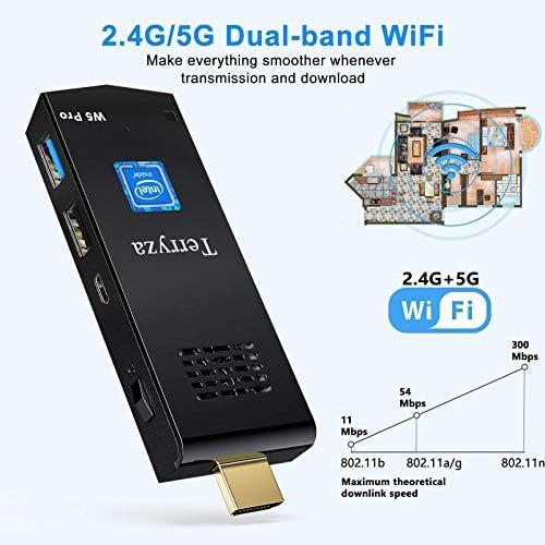 PC Stick Windows 10 Pro 64bit 8GB DDR3/128GB ROM Intel Atom Z8350 Intel Computer Stick,Support Dual Band WiFi 2.4/5G,4K HD, BT 4.2,Auto Power On