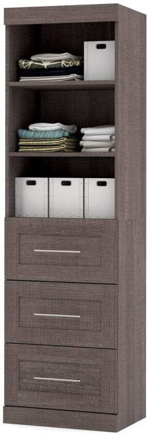 Bestar 25 Storage Unit with 3-Drawer Set – Pur
