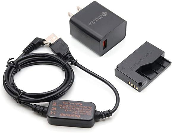 DR-E15 LPE12 LP-E12 Dummy Battery DC Coupler Grip 5V-8.4V USB Drive Cable ACK-E15 Mobile Power Supply 5V 3AMP Adapter Kit for Canon EOS 100D Rebel SL1