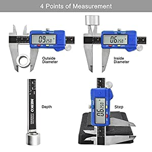 Neiko 01412A Electronic Digital Caliper with Extra Large LCD Screen | 0 - 6 Inches | Inch/Fractions/Millimeter Conversion