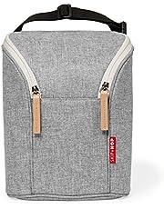 Skip Hop Insulated Breastmilk Cooler And Double Baby Bottle Bag, Grey Melange