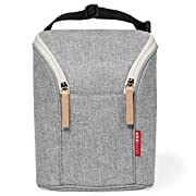 Skip Hop Grab & Go Double Bottle Bag, Grey Melange