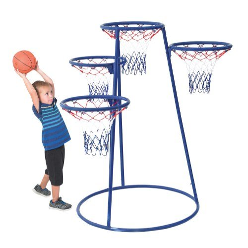 Children's Factory 4 Ring Basketball Stand With Storage Bag by Children's Factory