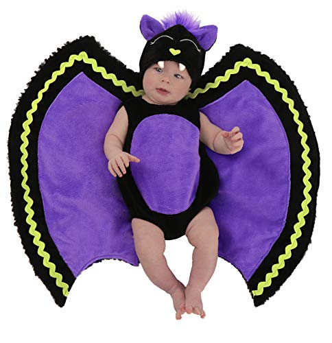 Princess Paradise Baby Swaddle Wings Drooly Drac Deluxe Costume, Bat, 0 to 3 Months -