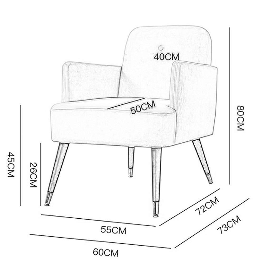 ZXL sammetstyg fåtölj stoppad accentstol modern matsal vardagsrum lounge mottagning kontor hem enkel soffa vilstol accent sovrum samtida (färg: grå) gRÖN