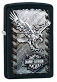 Zippo Harley-Davidson Iron Eagle Lighter, Black Matte