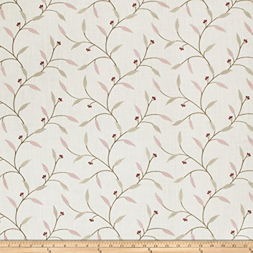 Mill Creek Shaina in Thistle Embroidered Viscose & Linen Drapery Fabric by Swavelle