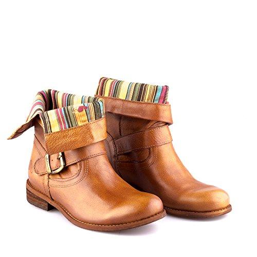 Avec Marron Oderg Felmini Size Clair En Eu Cowboy amp; Bottes Femme Tomber Amour Biker Véritable Cuir 8247 Chaussures 0 XqX6UY