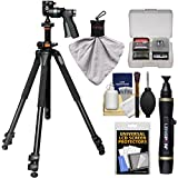 Vanguard Alta Pro 263AT Aluminum Alloy Tripod with Multiple Angle Central Column, GH-100 Grip Head and Case with Lenspen + Kit
